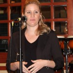 live your dream honoree lauren speaks at our wine tasting fundraiser in march
