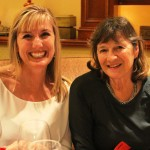 president georgette and her mom, kathy, both members of SIHB, at the wine tasting