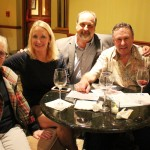 wine tasting, vp membership, anne, member eva and her husband harry and friends